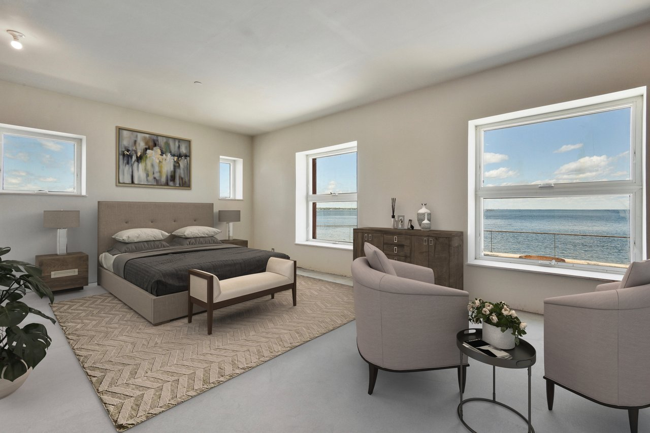 Virtually Staged master bedroom.