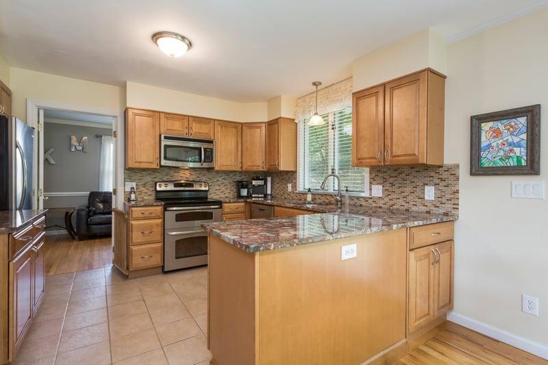 Tastefully remodeled kitchen