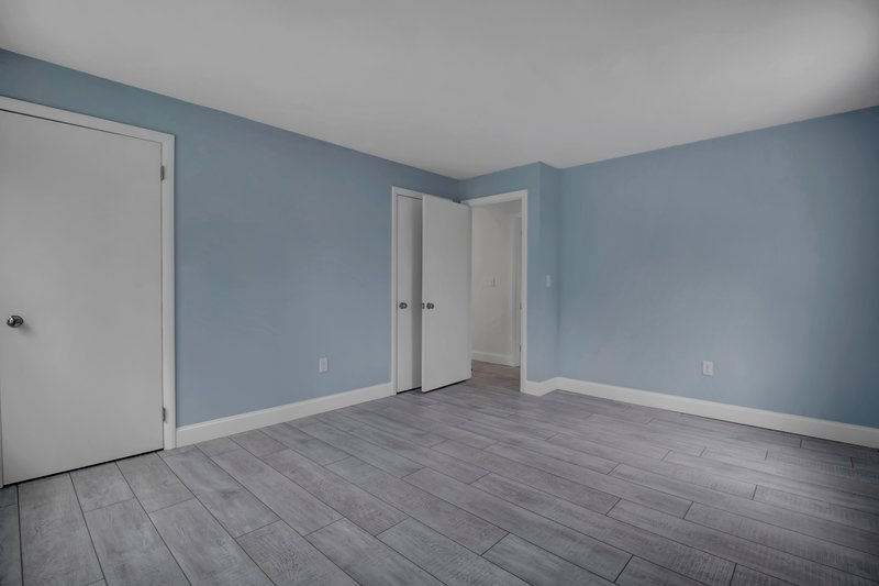 The 2nd bedroom features two closets.