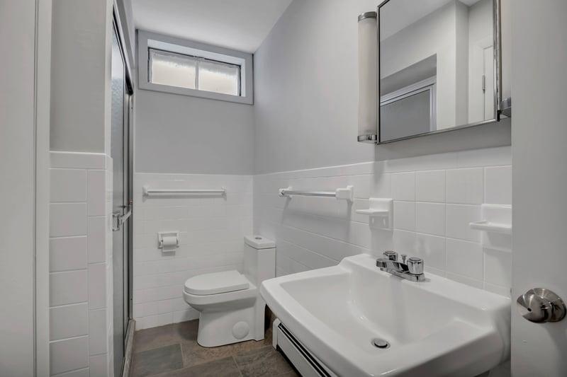 Lower level remodeled full bathroom