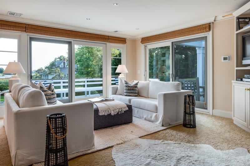 The Living Room offers incredible views of the Long Island Sound and accompanying salt marsh.