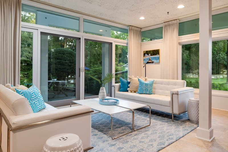 The Pool Cabana space is perfect for poolside entertaining.