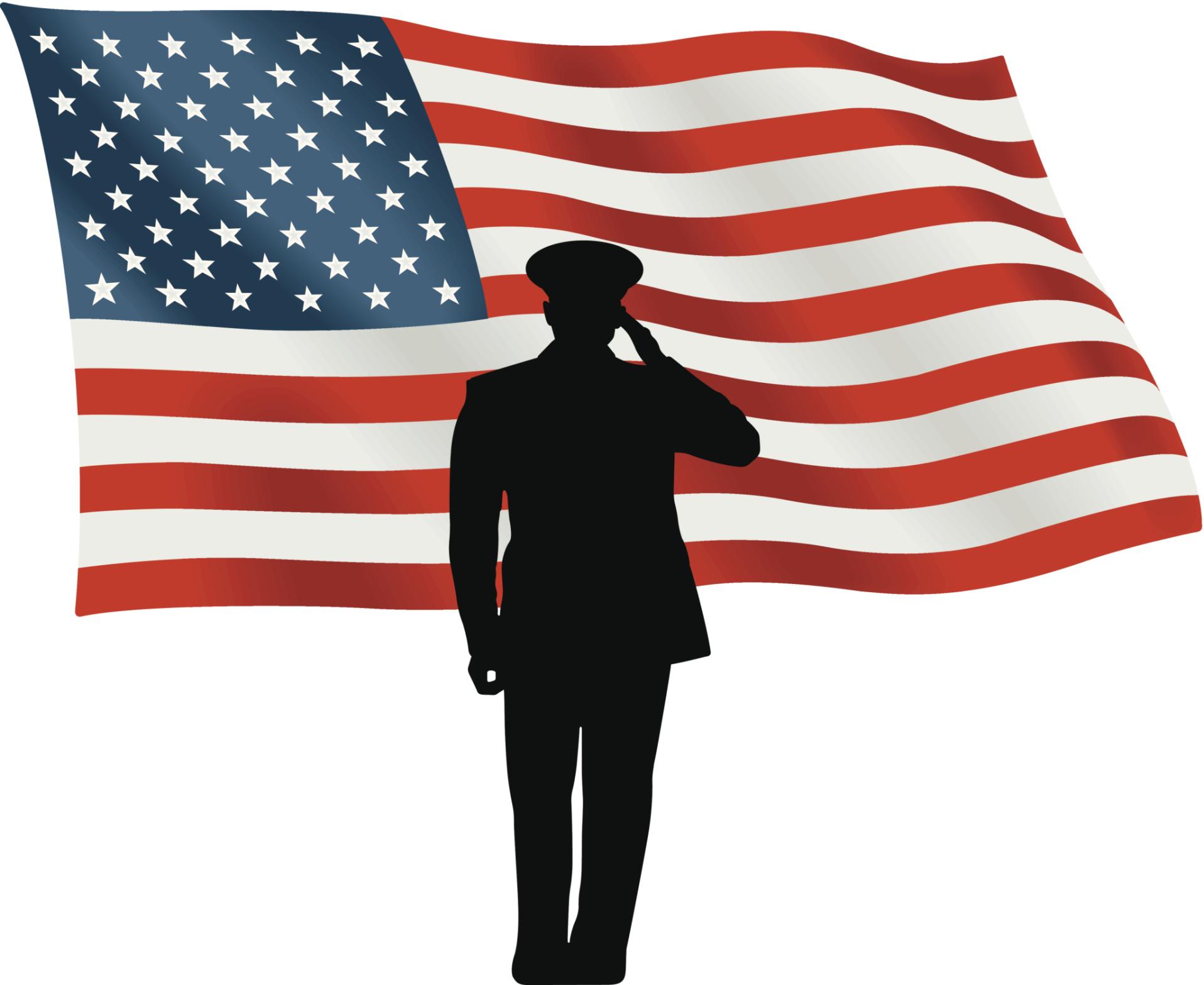 service veteran memorial flag clip art