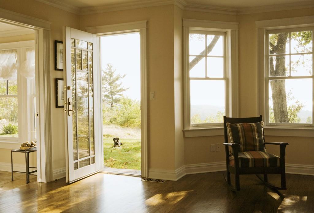 Interior of home with open doorway