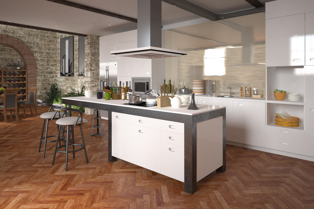 Modern luxury open-plan kitchen