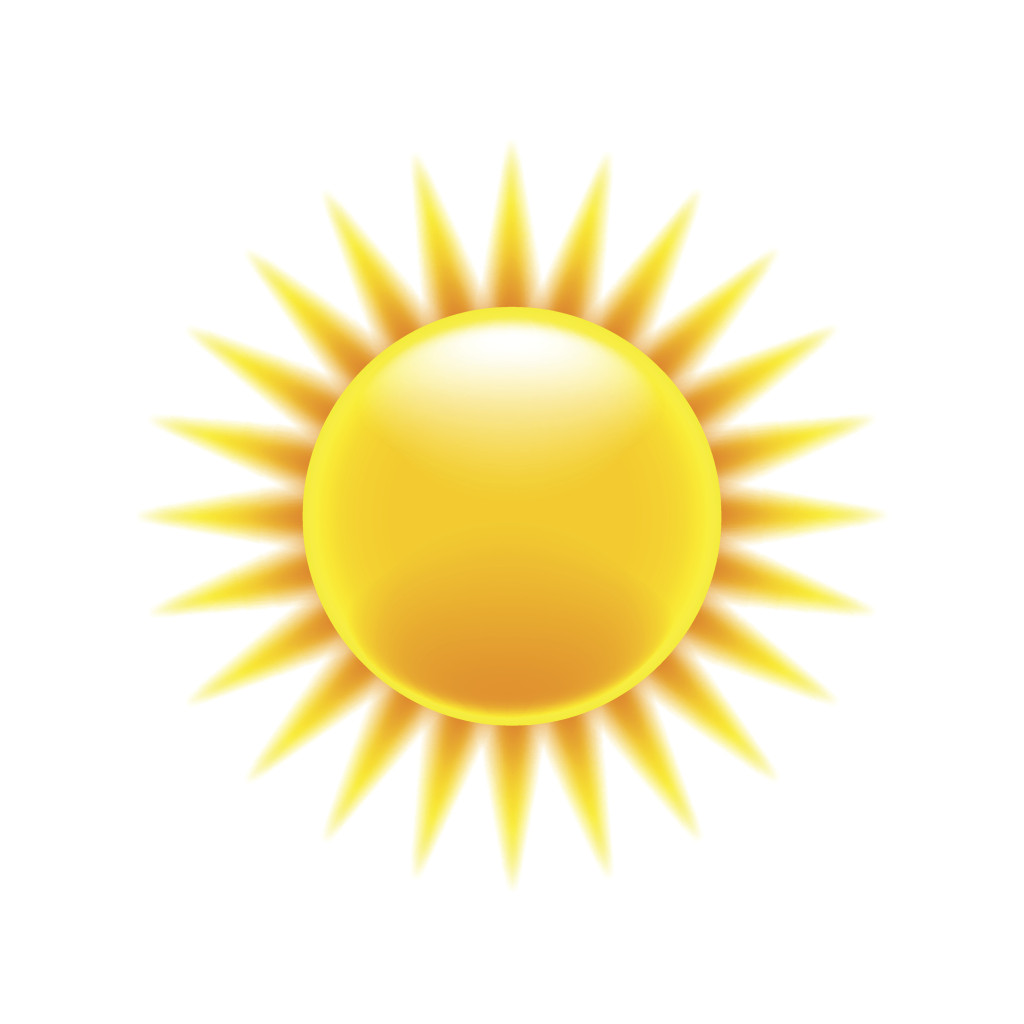 Cartoon sun icon isolated on white vector