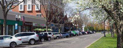 West Hartford CT main street blooming