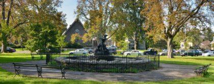 Larchmont NY fountain