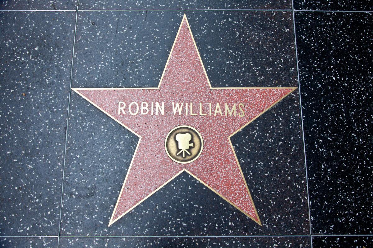 """""""Hollywood, California, USA - February 5, 2013: Hollywood Walk Of Fame Robin WIlliams achievement in the entertainment industry star."""""""