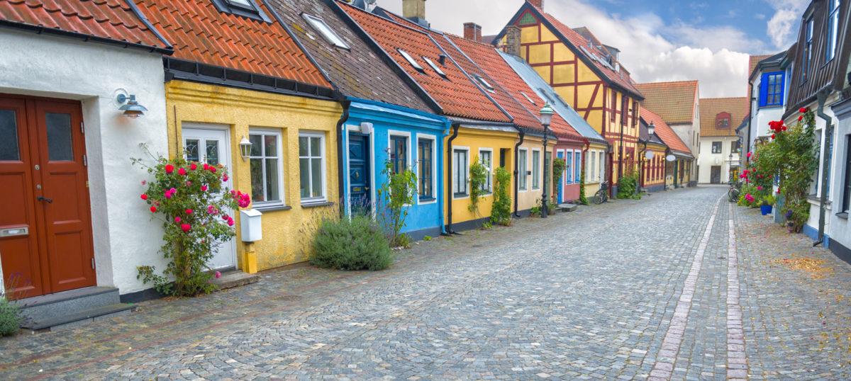 Old town of Ystad, Sweden.