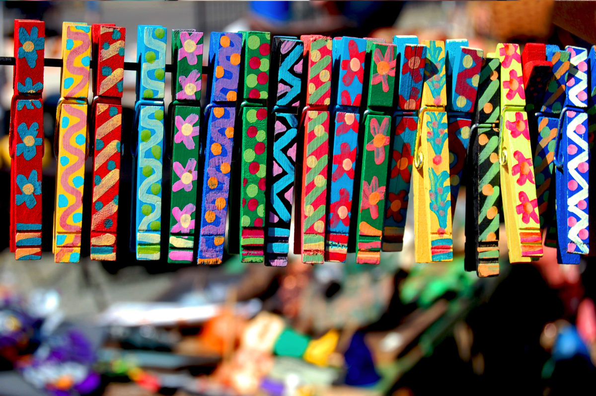 """This image, """"Colorful Hand-painted Clothes Pins"""" from Robin Fields and is available for download as a JPEG file with 300 dpi resolution format at 3,000 x 2,00 pixels."""