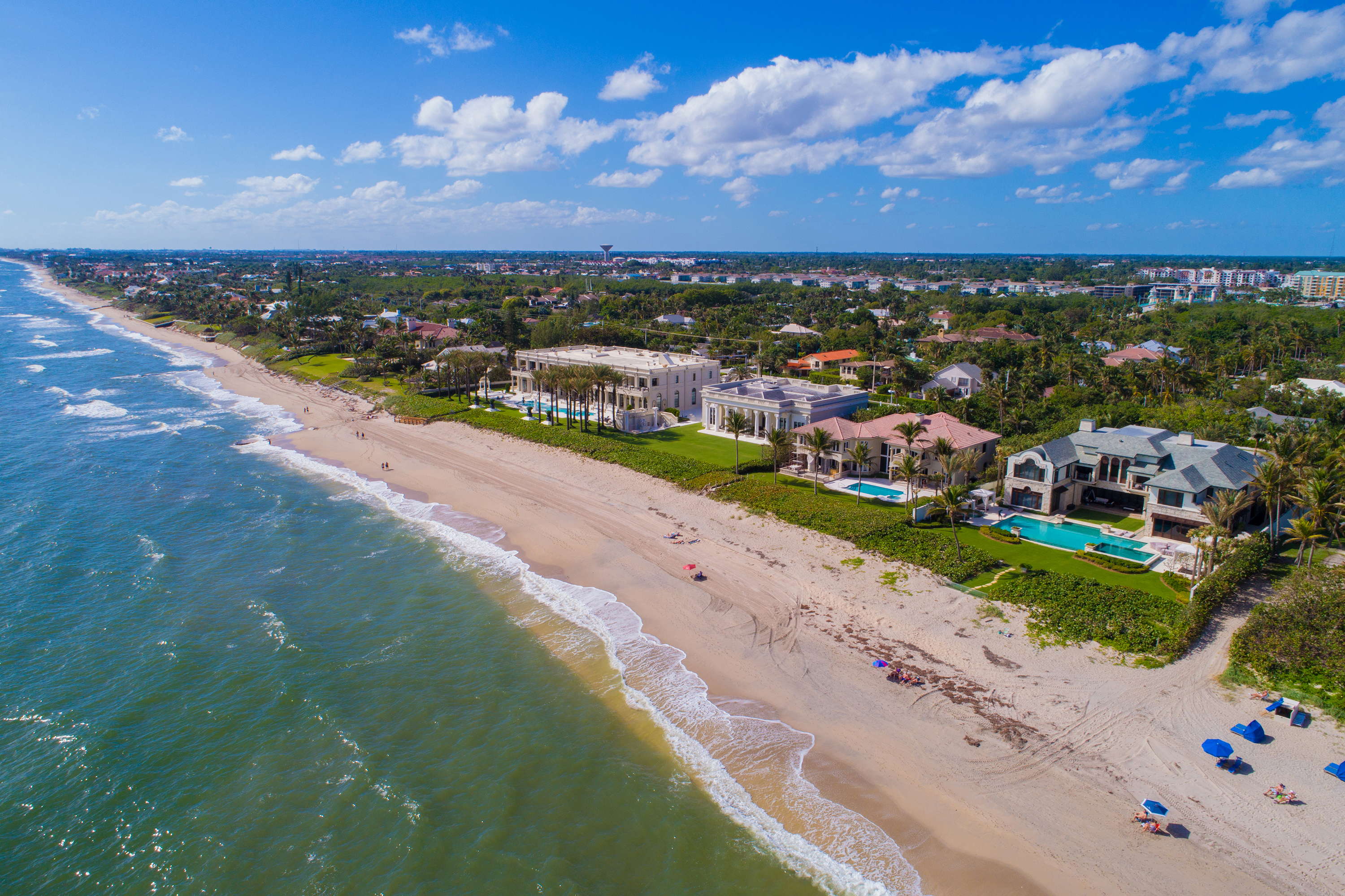 Homes of the rich and famous Florida Atlantic coast