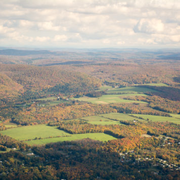 Fall foliage view from Mount Greylock in Berkshires
